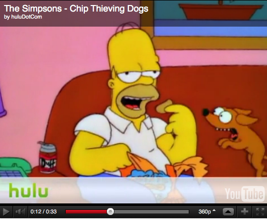 Chip Thieving Dogs Simpsons Video Clip Hulu