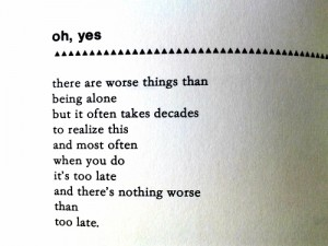 oh yes by charles bukowski