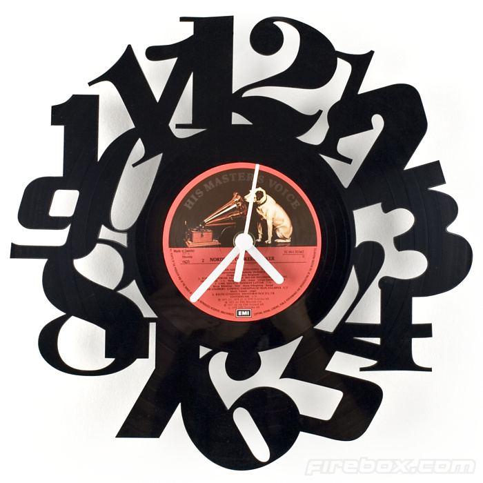 Geek Girl Gifts - Vinyl Number Clock Typography