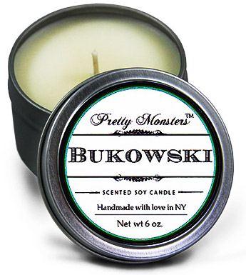 Geek Girl Gifts - Bukowski Candle