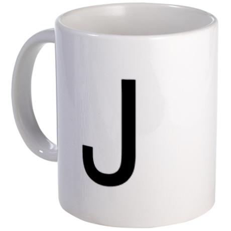 Geek Girl Gifts - Letter J Mug