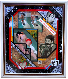 Tomorrow Ends Today Collage Mixed Media