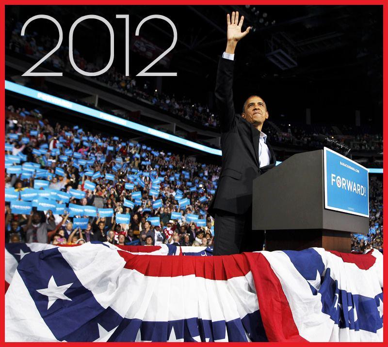 President Barack Obama 2012 Re-elected