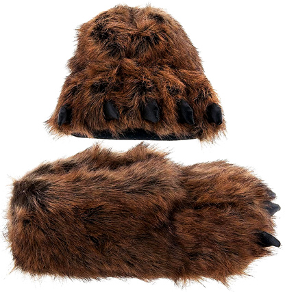 Grizzly Bear Cute Paw Slippers Gift