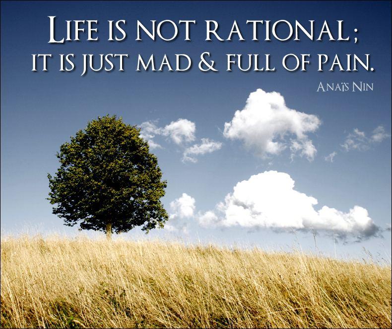 Life is Not Rational - Anaïs Nin