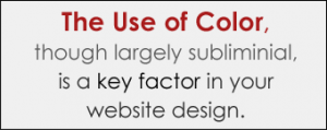 Use of Color in Website Design and Typography