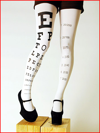 Eye Chart Tights Geek Gift