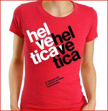 Helvetica Shirt Geek Gift