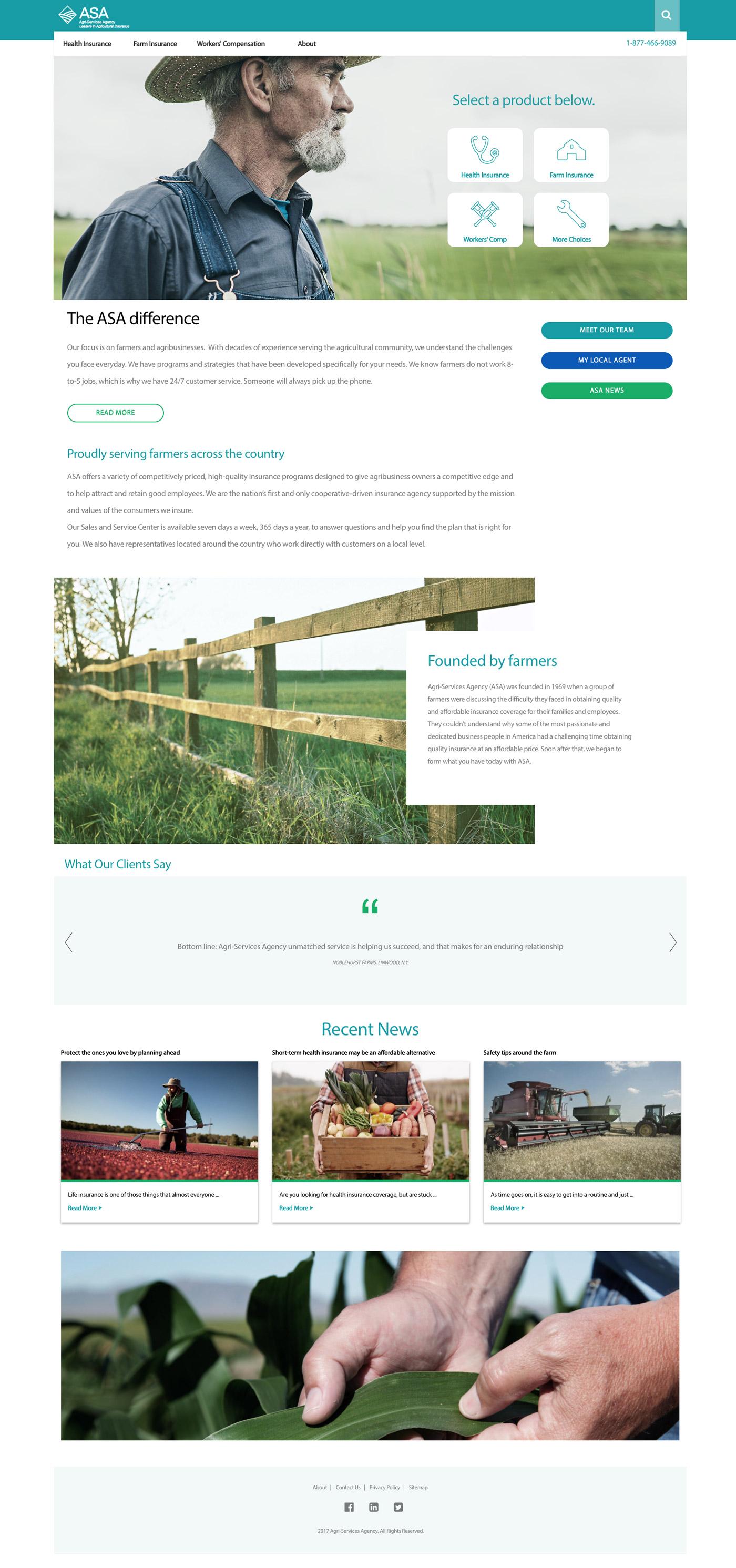 Agricultural Insurance Website Design
