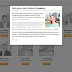 Saepio Website Design - About Us lightbox