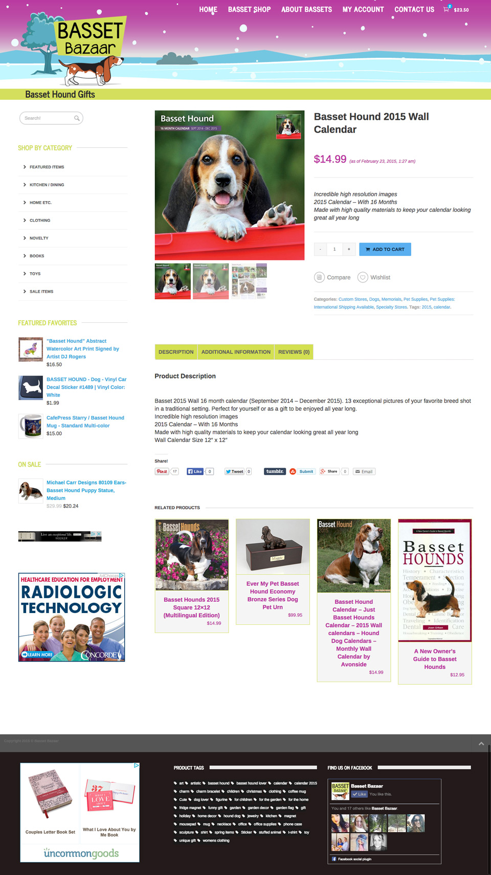 Basset Bazaar Website