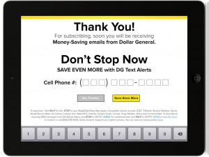 Dollar General Kiosk iPad App Design