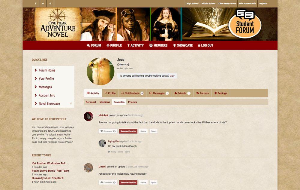 BuddyPress Forum - Favorites Page