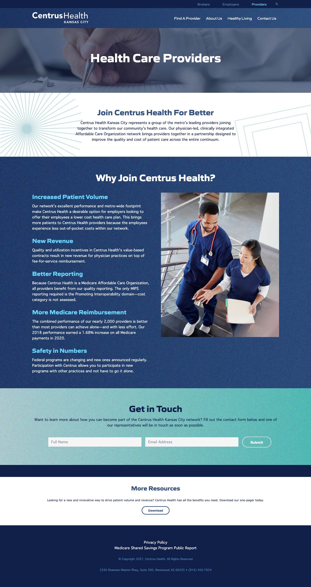 Healthcare Provider User Experience Design & WordPress Development