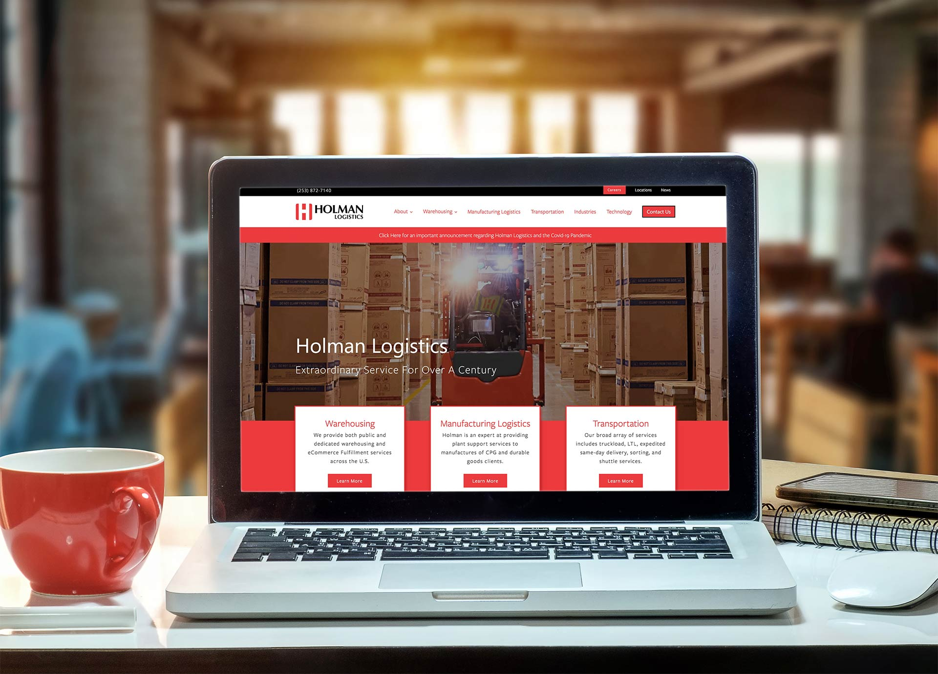 Logistics Company Website Design and WordPress Development