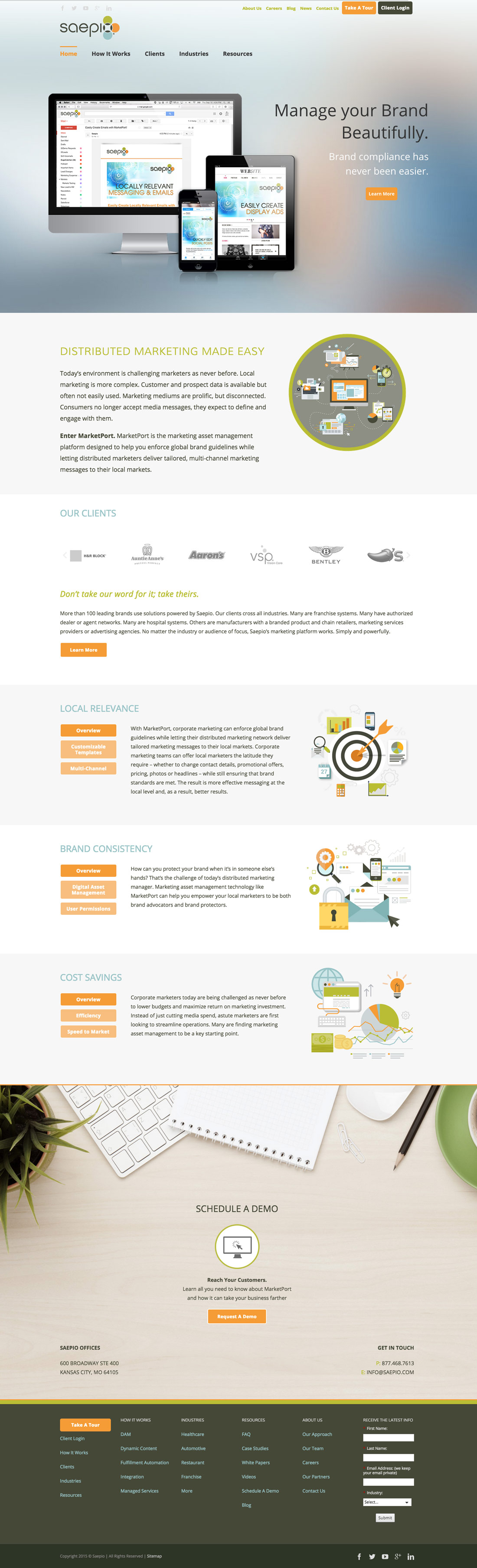 Homepage Saepio Website Design