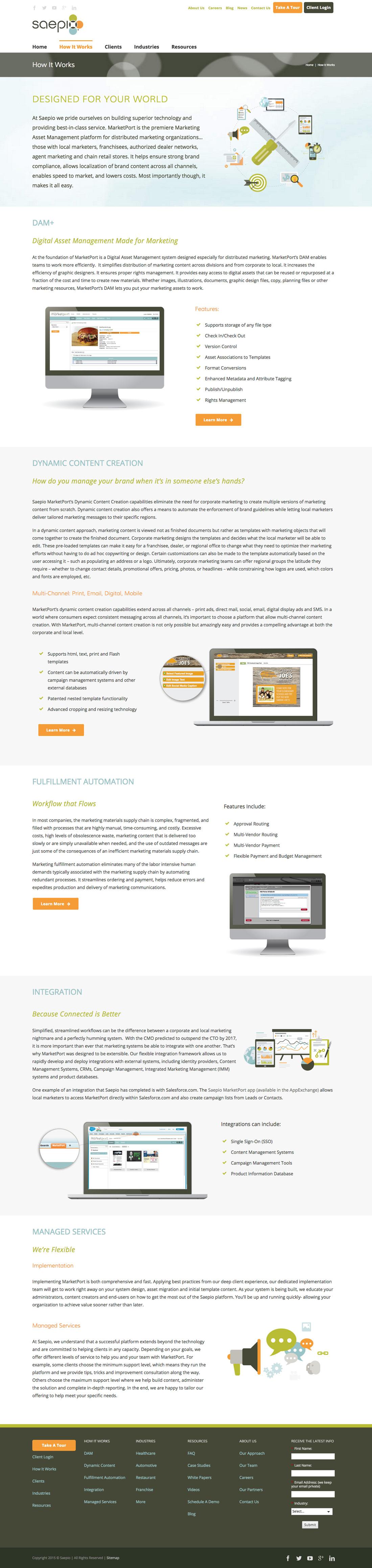 How It Works Saepio Website Design