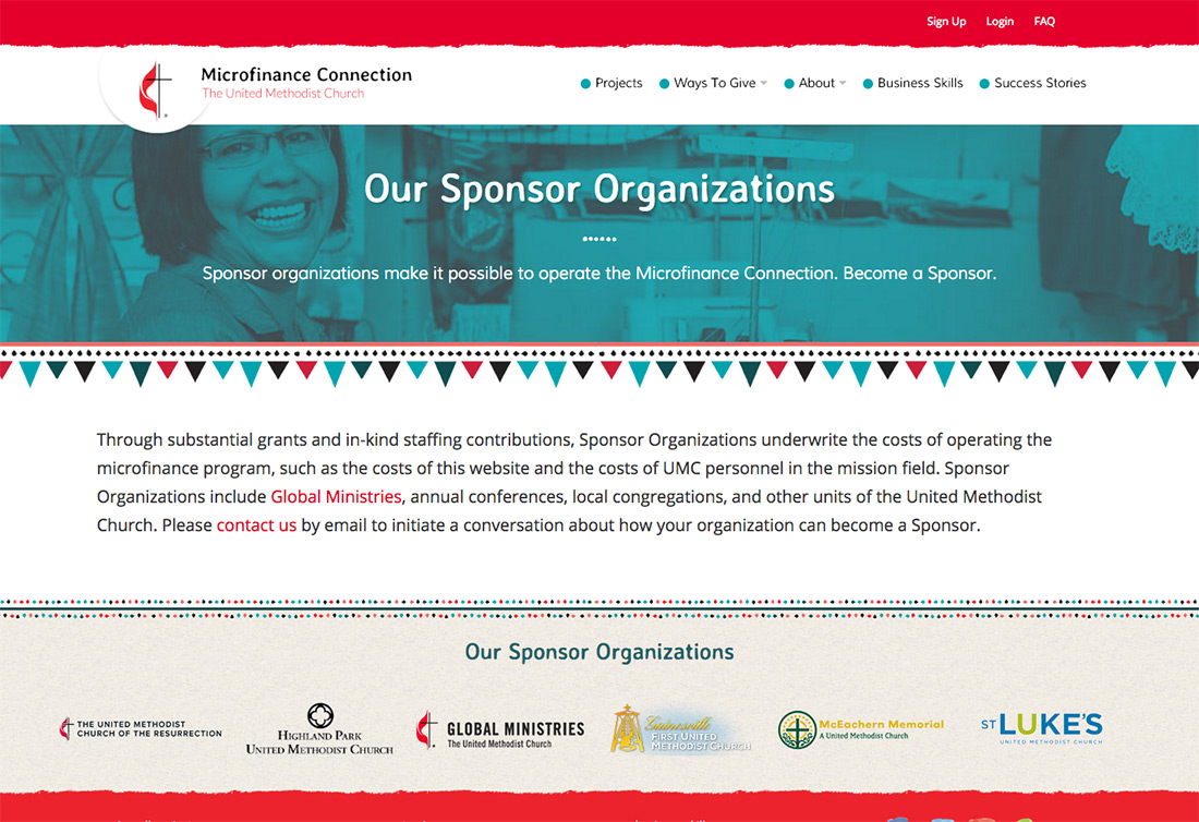 Sponsors page - How You Can Help - UMC Microfinance Connection