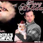 Afentra's Big Fat Morning Buzz Christmas Card Design for KRBZ