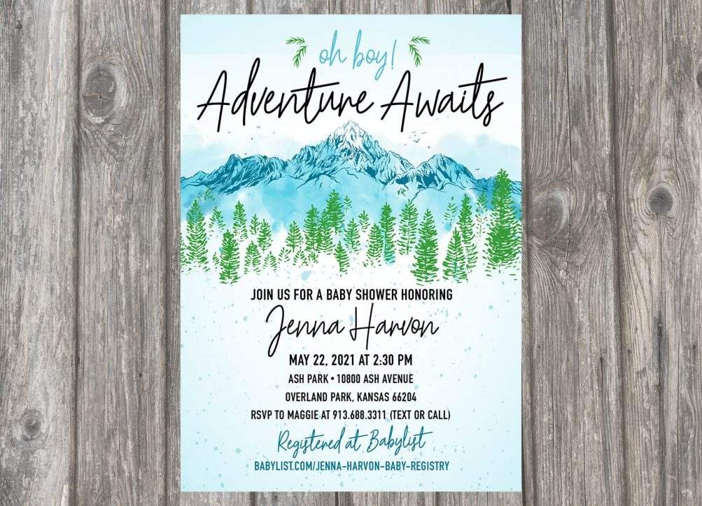 """Little Adventurer"" Baby Shower Invitation Design"