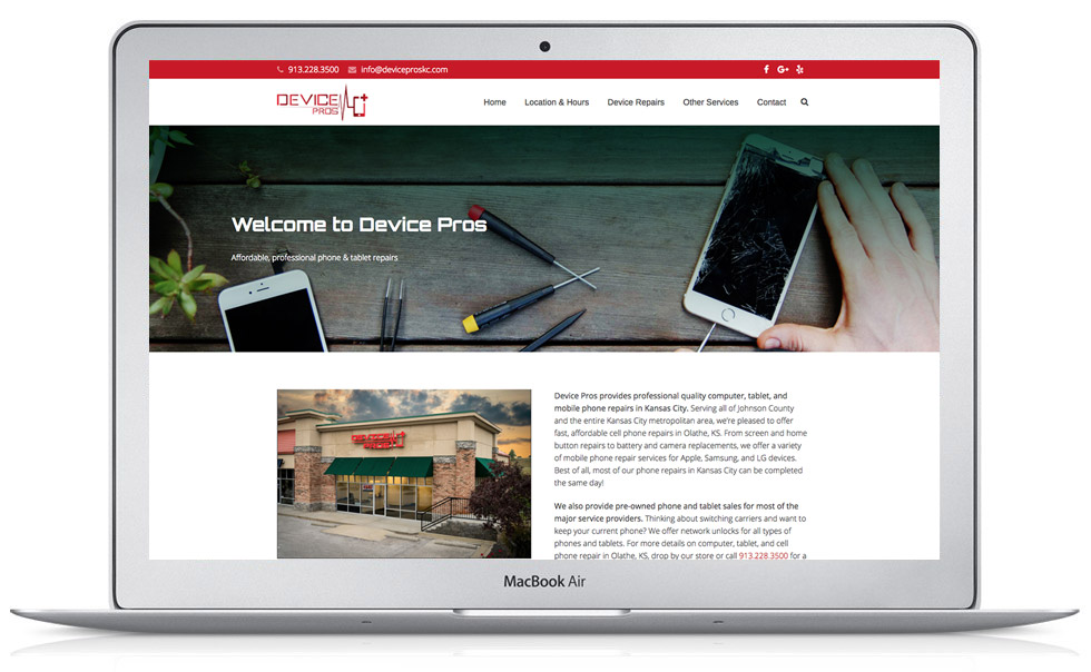 Device Pros WordPress Website