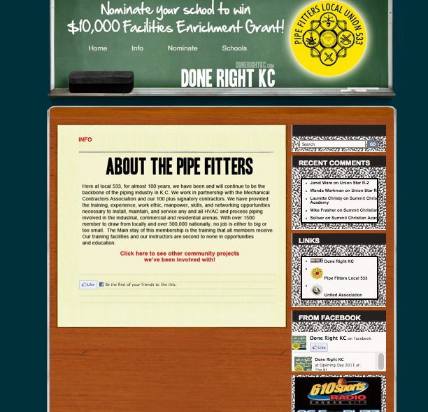 Microsite Design for Done Right KC