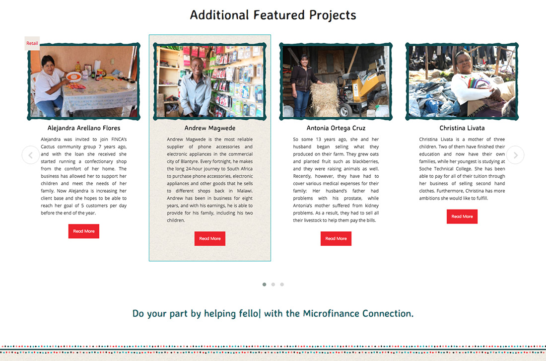 Homepage for UMC Microfinance Connection
