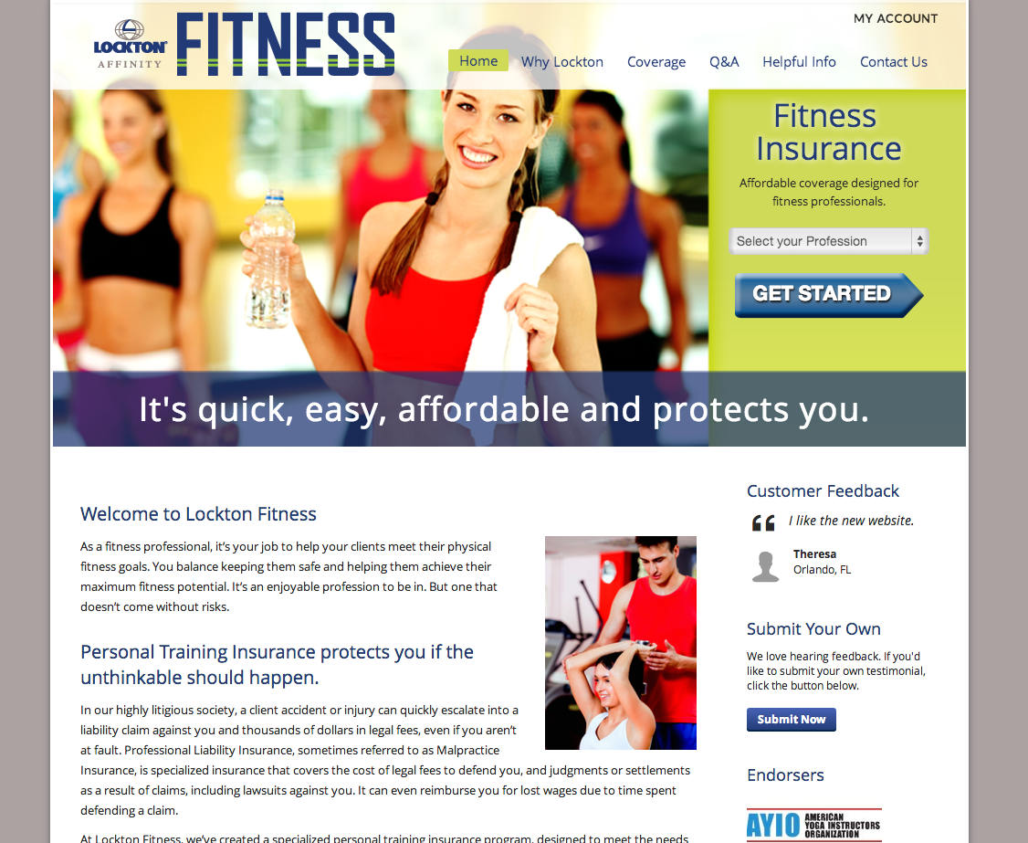 Website Design and Development for Insurance Company