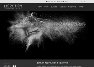 Mercury Academy of Dance Website Development, Website Design, Kansas City