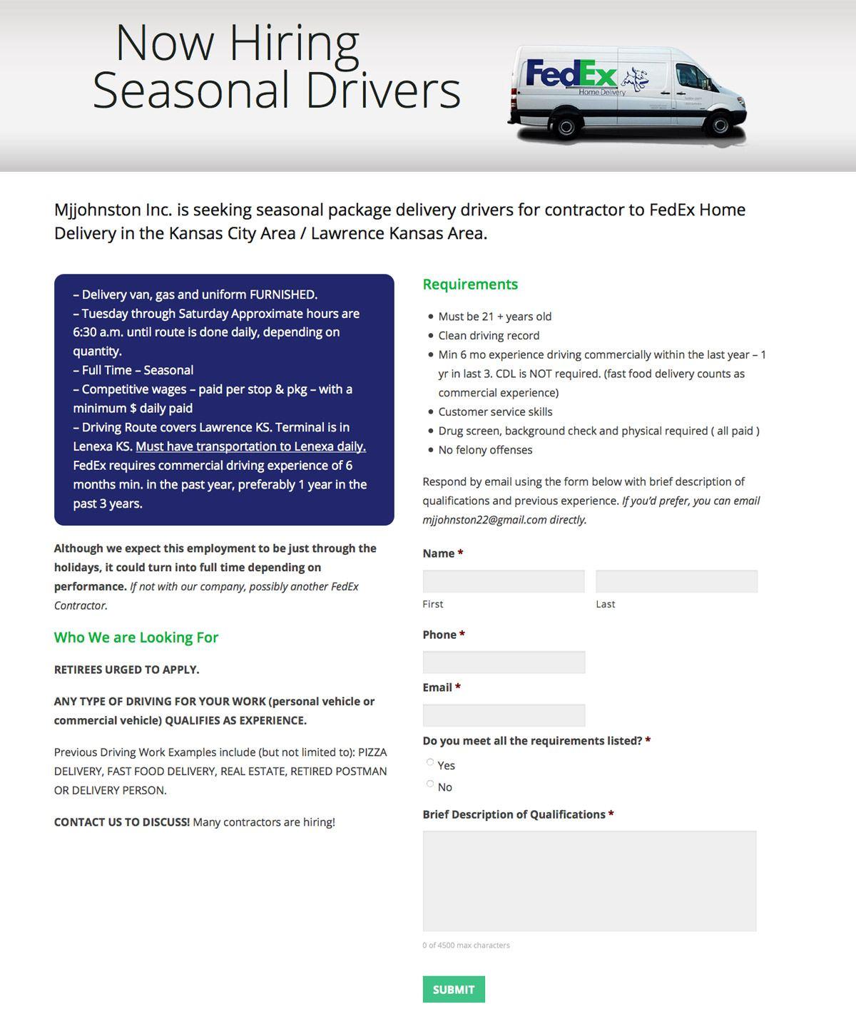 Seasonal Landing Page Design