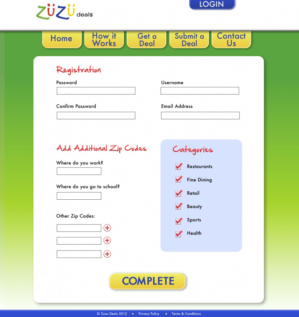 Zuzu Deals Website Design